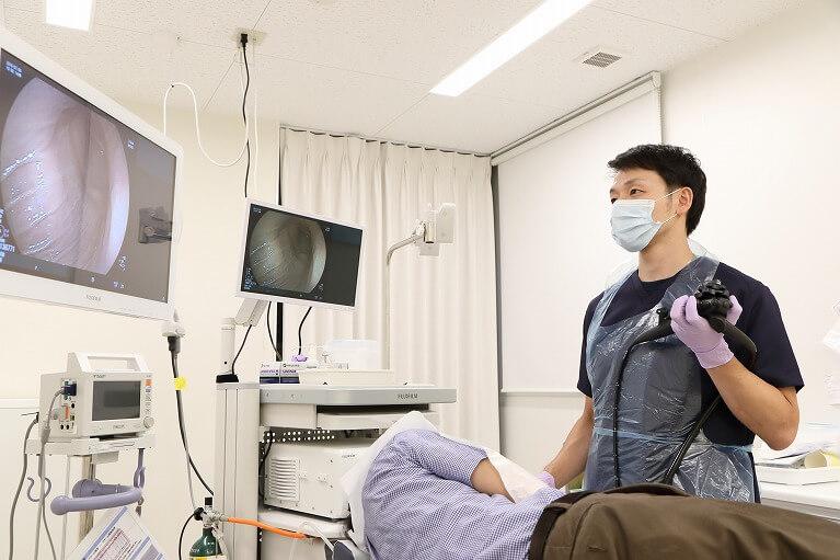 胃カメラ検査開始(鎮静剤の使用が可能です)|内視鏡専門医がいる大阪の玉城クリニック